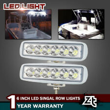 2PCS White Spreader LED Deck/Marine Waterproof Light For Boat SPOT LAMPS 12V 24V