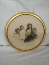 "New ListingAntique Vintage Family Photo in 10"" Round Frame Appraised by Dr. Lori"