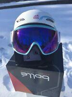 Bolle Ski Snowboard Helmet & Visor Googles White L58-61 *UNISEX* New in Box $300