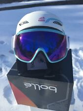 Bolle Osmoz Ski Snowboard Helmet & Visor Googles White L58-61cm Brand New in Box