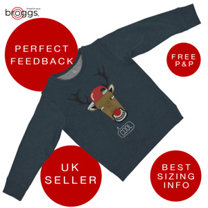 Boys Jumper Sweater Team Rudolph Cool Christmas Toddler 12 M to 4 Y
