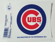 "Chicago Cubs 3 x 4"" Small Static Cling - Truck Car Auto Window Decal NEW"