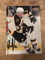 AUTOGRAPHED 2007-08 Upper Deck Boston Bruins Hockey Card #165 Phil Kessel SIGNED