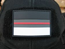 10 x Klettpatch Rubber ca. 6x4cm thin red line Deutschland night camo Feuerwehr