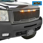 Eag Full Upper Led Grill Front Hood Grille Fit 07-10 Chevy Silverado 2500hd