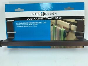 InterDesign Marcel Over the Cabinet Kitchen Dish Towel Bar Holder Bronze 32169