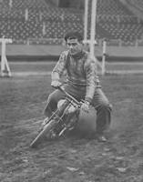 OLD PHOTO Australian Speedway Champion Lionel Van Praag Riding A Motorcycle