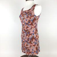 LOGOLounge By Lori Goldstein XXS Camo Tank Top Red Pink Multicolor Flowy