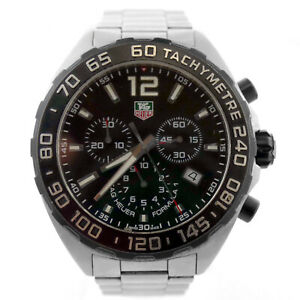 TAG HEUER FORMULA 1 CAZ1110 BLACK DIAL CHRONO 200M STAINLESS STEEL MENS WATCH