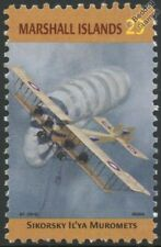 WWI SIKORSKY ILYA MUROMETS S-22 Russian Aircraft Stamp (Marshall Islands)