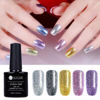 7.5ml UR SUGAR Soak Off Glitter Platinum UV Gel Polish Nail Art Varnish