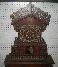 Tramp Art Jigsaw Mantel Clock
