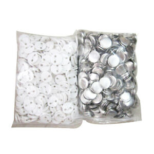 44mm Blank ABS Pin Badge Button Supplies for DIY Badge Maker Machines - 100Pcs