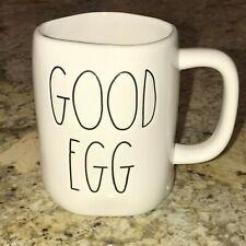Rae Dunn GOOD EGG BAD EGG Easter Spring Mug LLB Two Sided Farmhouse Brand New