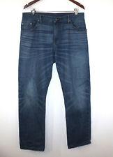 Raleigh Denim Raw Alexander Handmade USA Jeans Stretch Fades 34-30 Fits 35