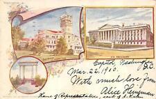 SOLDIERS HOME & TREASURY WASHINGTON D.C. PIONEER POSTCARD 1900 **