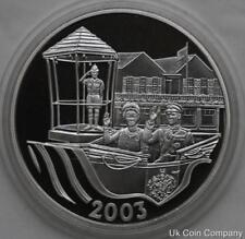2003 Bermuda Golden Jubilee Gold Silver Proof $5 Five Dollar Crown Coin