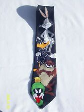 "Looney Tunes Mania Men's Neck Tie Polyester 4""x 57"" Bugs Bunny Daffy Duck"