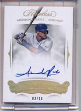 2018 Panini Flawless Gold Addison Russell Signed AUTO 03/10  CUBS