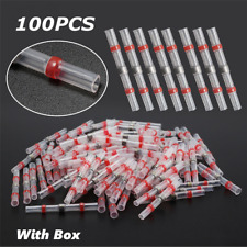 100Pcs Heat Shrink 22-18Awg Wire Connectors Solder Seal Tube Electric Terminals