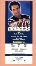 Buffalo Bills at San Diego Chargers 2001 ticket stub Doug Flutie photo Tomlinson