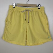 Polo Ralph Lauren Men's Swim Trunks Shorts Yellow Lined Pockets Preppy Size XL