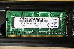 NCR (Avant Tech) PC2 5300 512MB SO-DIMM 667 MHz DDR2 SDRAM AVK6464U60E6800F1-AP