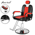 360° All Purpose Hydraulic Recliner Barber Chair Styling Salon Shampoo Red Black