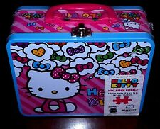 Hello Kitty Collectible Large Lunch Box Tin & 100 Piece Fullsize Puzzle Sanrio