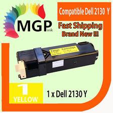 1x Generic Yellow Toner Cartridge for Dell 2130 2130cn 2135 2135cn Color Printer