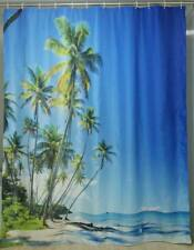 PALM TREES FABRIC  SHOWER CURTAIN