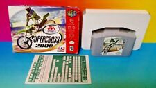Supercross 2000 Racing  Nintendo 64 N64 Cart Tested Authentic w/ Box 1-2 Players