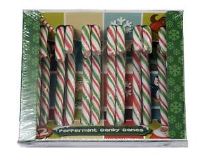 288 Red, White & Green Christmas Candy Canes BULK BUY CASE OF 24 PACKS OF 12 xma