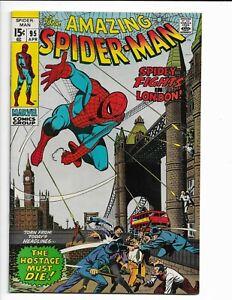 AMAZING SPIDER-MAN 95 - VF 8.0 - HARRY OSBORN - GWEN STACY - AUNT MAY (1971)