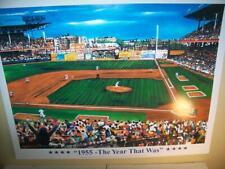 1955 Brooklyn Dodgers Ebbets Field Lithograph by Robert Simon