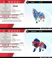 Zacian / Zamazenta pack - 6IV - Good nature - Pokemon Sword Shield FAST DELIVERY