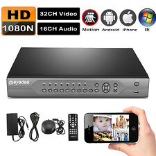 Eyedea 32 CH Channel 1080N Surveillance DVR Video Recorder CCTV Security System