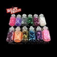 12x 3D Nail Art glitter Flake punte decorazione di DIY manicure Hexagon Flake