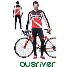 Men Bicycle Cycle Clothes Long Sleeve Shirt Jersey Shorts Pants Cycling Suit