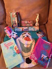 Disney Frozen Elsa, Anna & Olaf Complete 8 Piece Bathroom / Shower Set Brand New