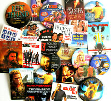 Movie pinback badges Promotional buttons Take your pick Tarantino Scooby Doo