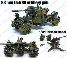 WWII German 88 mm Flak 36 the eighty-eight artillery gun 1/72 finished model
