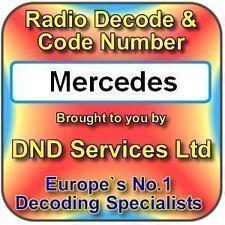 Mercedes Benz Decodificar Desbloqueo de código de radio por número de serie