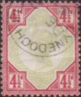Great Britain 1892 SG206 4½d green and carmine Queen Victoria FU