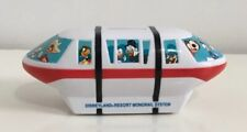 Vintage Walt Disney World Monorail System Coin Piggy Bank Mickey Mouse Donald