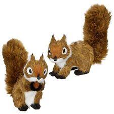 Set/2 RAZ Imports Plush Chipmunk Squirrel Forest Christmas Tree Decor Ornaments