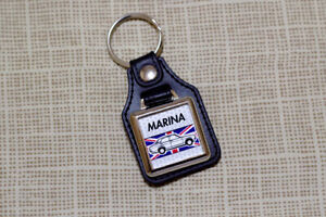 Morris Marina Keyring - Leatherette & Chrome Keyfob