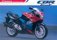 0023HONMO Honda CBR 600 F Prospekt 1991 brochure prospetto prospecto prospectus