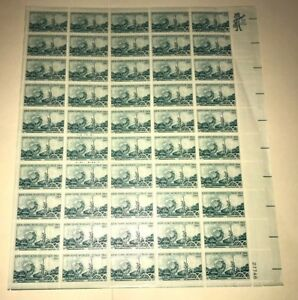 NEW YORK WORLD'S FAIR 1964-1965 Full Sheet of 50 5c  Vintage USA Postage Stamps