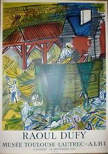 Raoul Dufy Affiche Lithographie Mourlot 1955 Musée Toulouse Lautrec Albi